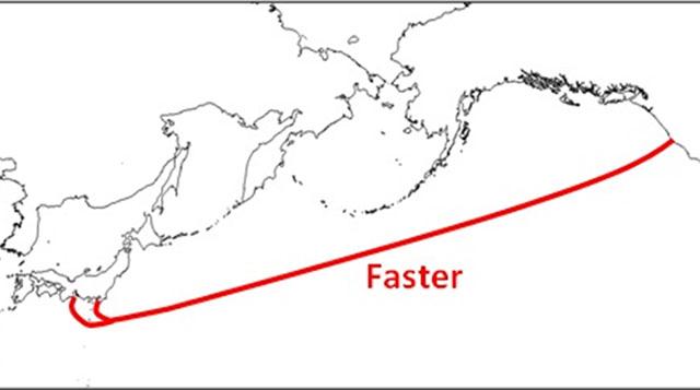 системы высокоскоростных подводных кабелей, которая свяжет западное побережье США с Японией