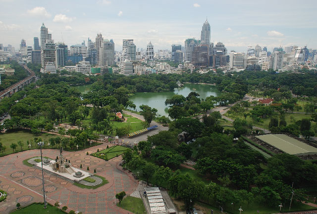 Aerial view of Lumphini Park - Генераторы Inmesol