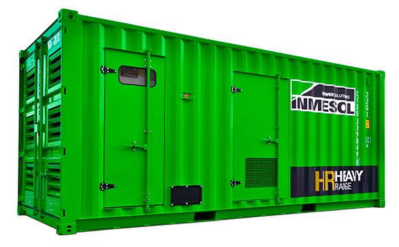 Электрогенераторная установка большой мощности в корпусе с высокой шумоизоляцией