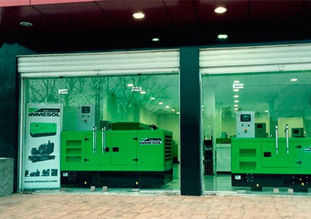 Электрогенераторные установки Inmesol на выставке в новом помещении нашего дистрибьютора
