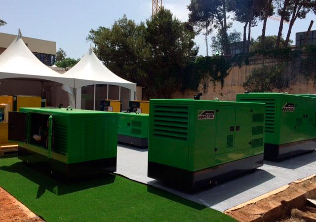 Inmesol Generator sets exhibited in FIA