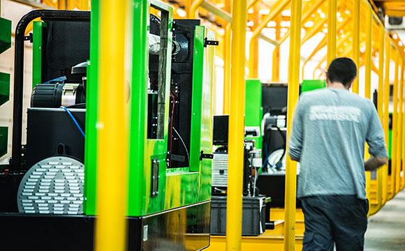 Сборочный конвейер Solano на территории компании Inmesol
