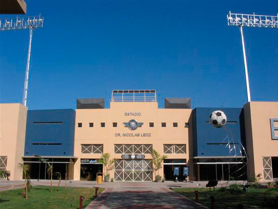 Dr. Nicolás Leoz stadium photo of the entrance from the club's website