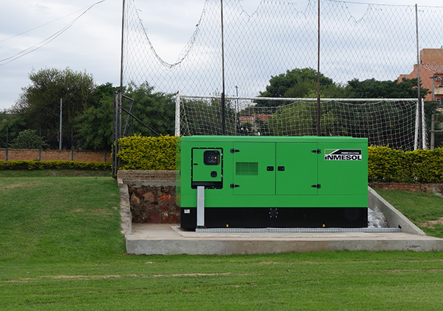 Generator sets installed in 'Dr. Nicolás Leoz Stadium'