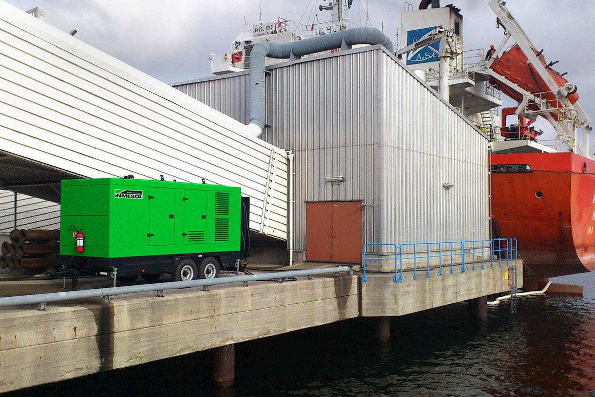 Inmesol Generator Set in Stockholm Port