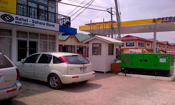 Модель II-066, установленная для работы в аварийном режиме в сети банка Sahel - Sahara BSIC (GH) LTD в Гане