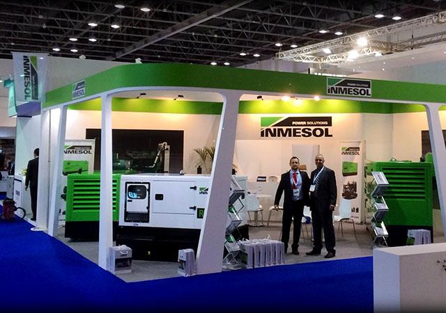 Стенд компании Inmesol на выставке Middle East Electricity в прошлом году