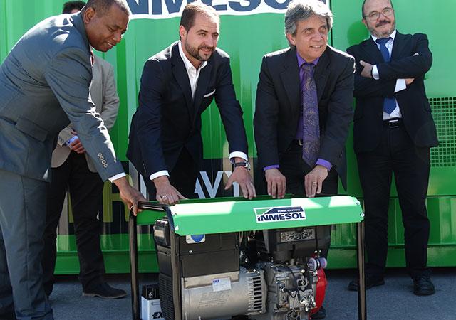 Cónsul y Vicecónsul de Ecuador en Murcia, Sr. D. Gustavo Mateus Acosta y Sr. D. Juan Valencia Quiñonez