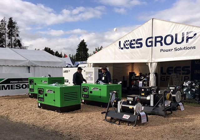 Выставочный стенд компании LEES GROUP Power Solutions на выставочном шоу