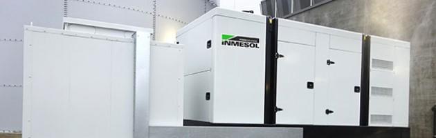 Электрогенераторная установка INMESOL IV‐700 смонтирована с наружной стороны Центра по техническому обеспечению охлаждения молочной продукции в городе НИЖНЯЯ САКСОНИЯ, ГЕРМАНИЯ