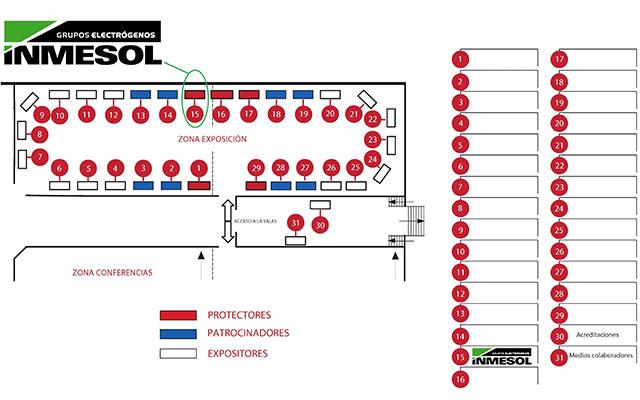 Расположение на карте: выставочная площадь и конференц-зона