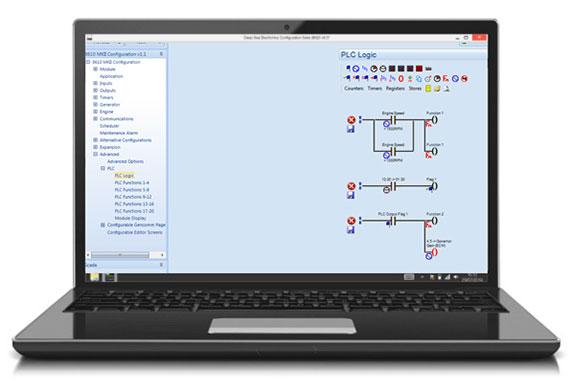 Пример логической схемы для ПЛК с помощью программной конфигурации