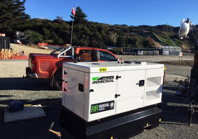 PRP генератор, 30 кВА на строительной площадке автомагистрали Галли