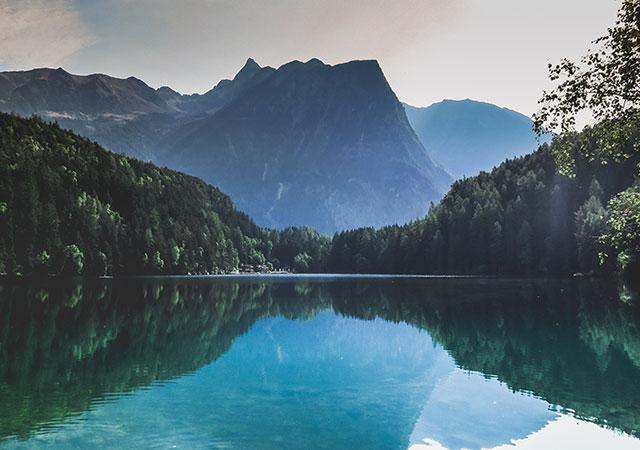 Фото Пола Гилмора. Озеро Пибургер, Австрия